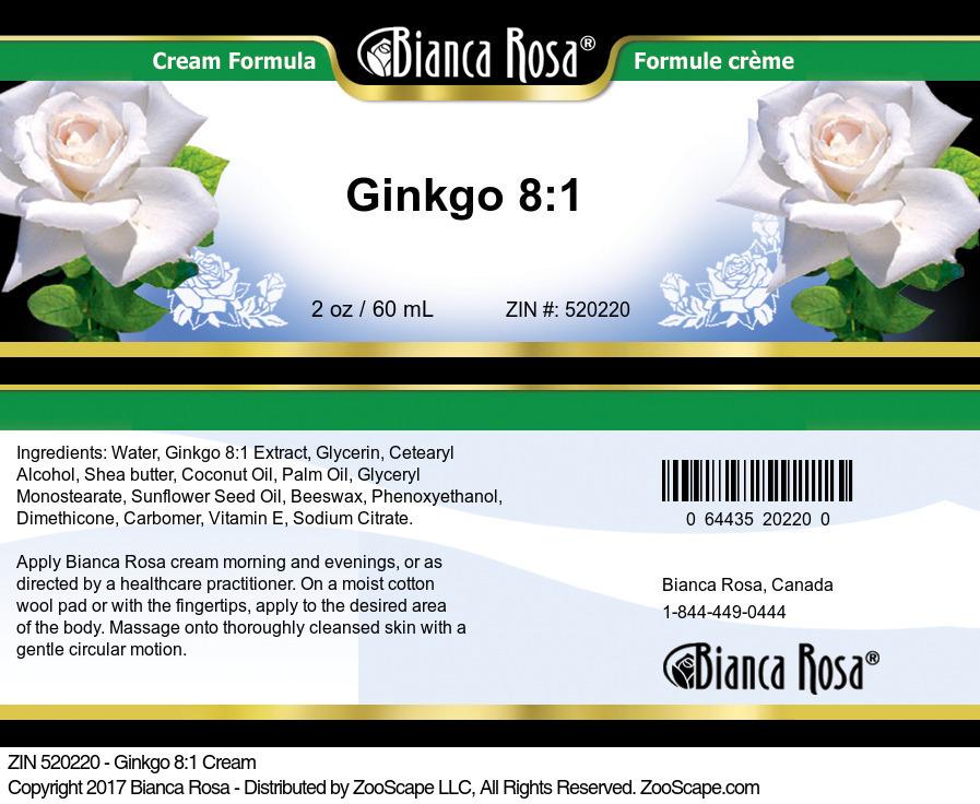 Ginkgo 8:1 Cream
