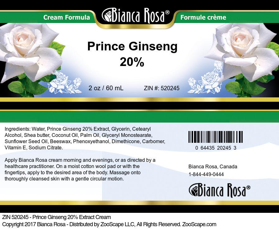 Prince Ginseng 20% Cream