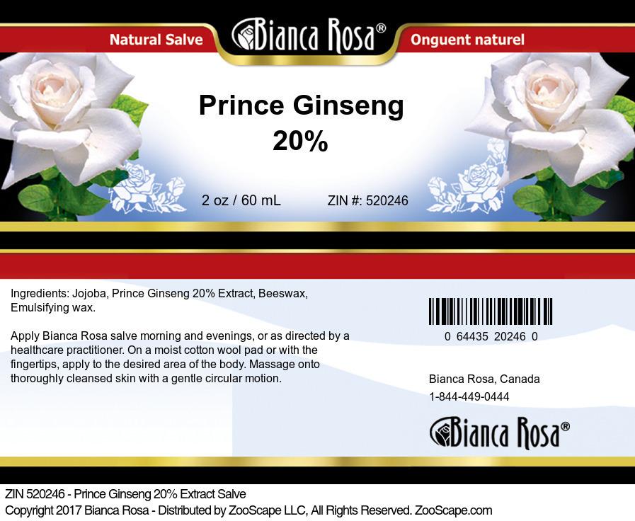Prince Ginseng 20% Salve