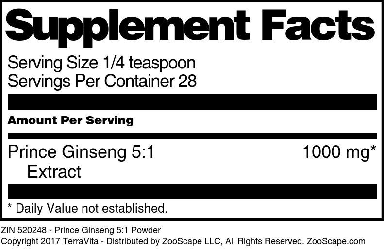 Prince Ginseng 5:1 Powder