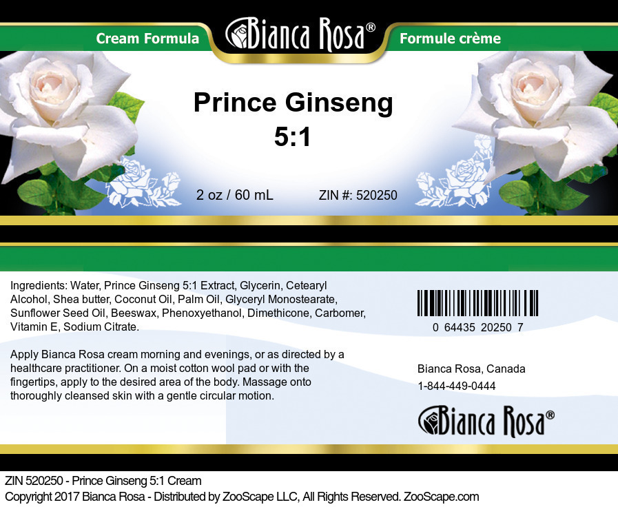 Prince Ginseng 5:1 Cream