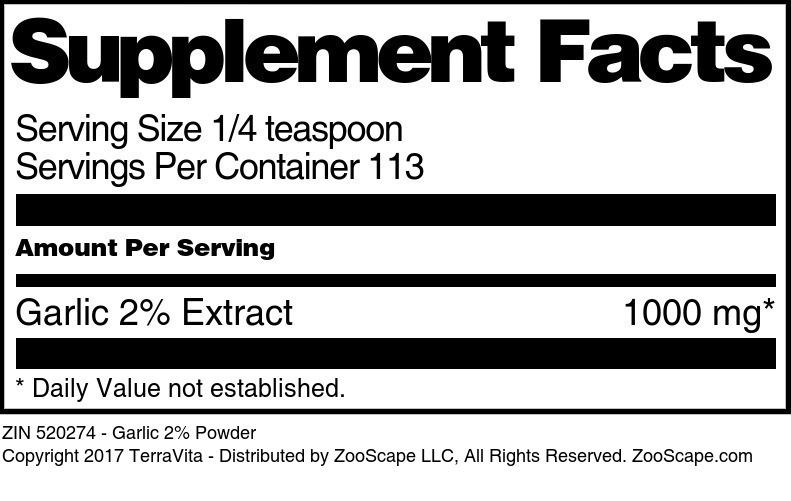 Garlic 2% Powder