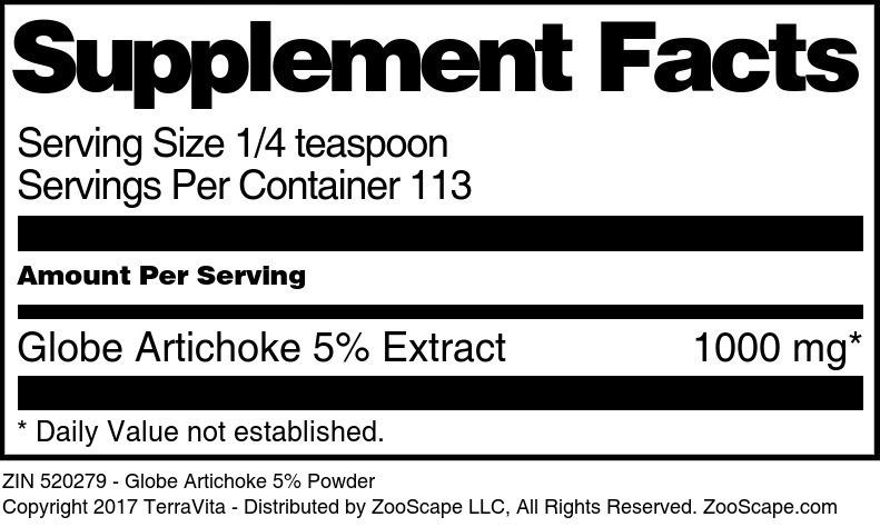 Globe Artichoke 5% Powder