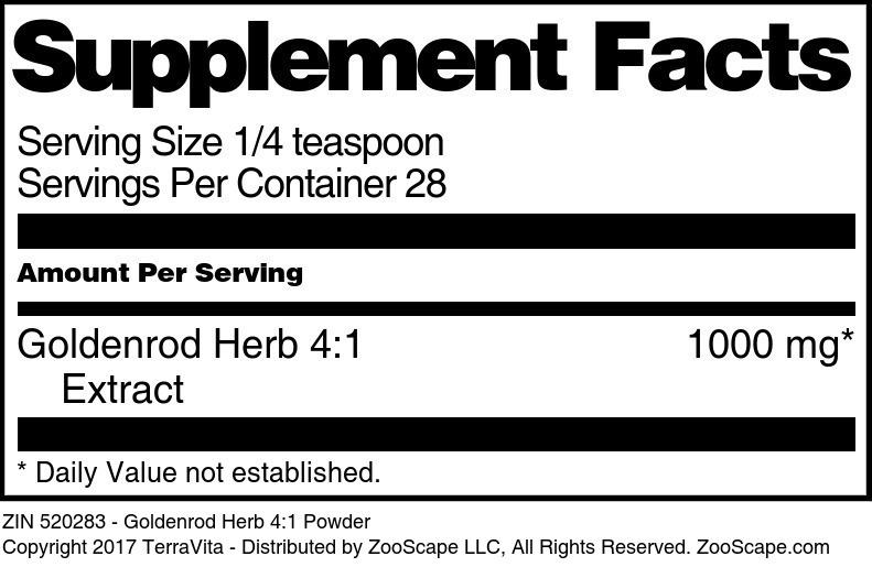 Goldenrod Herb 4:1 Powder
