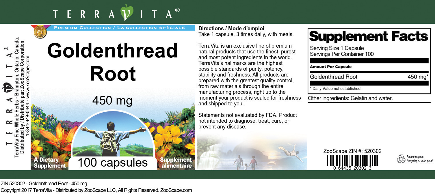 Goldenthread Root - 450 mg