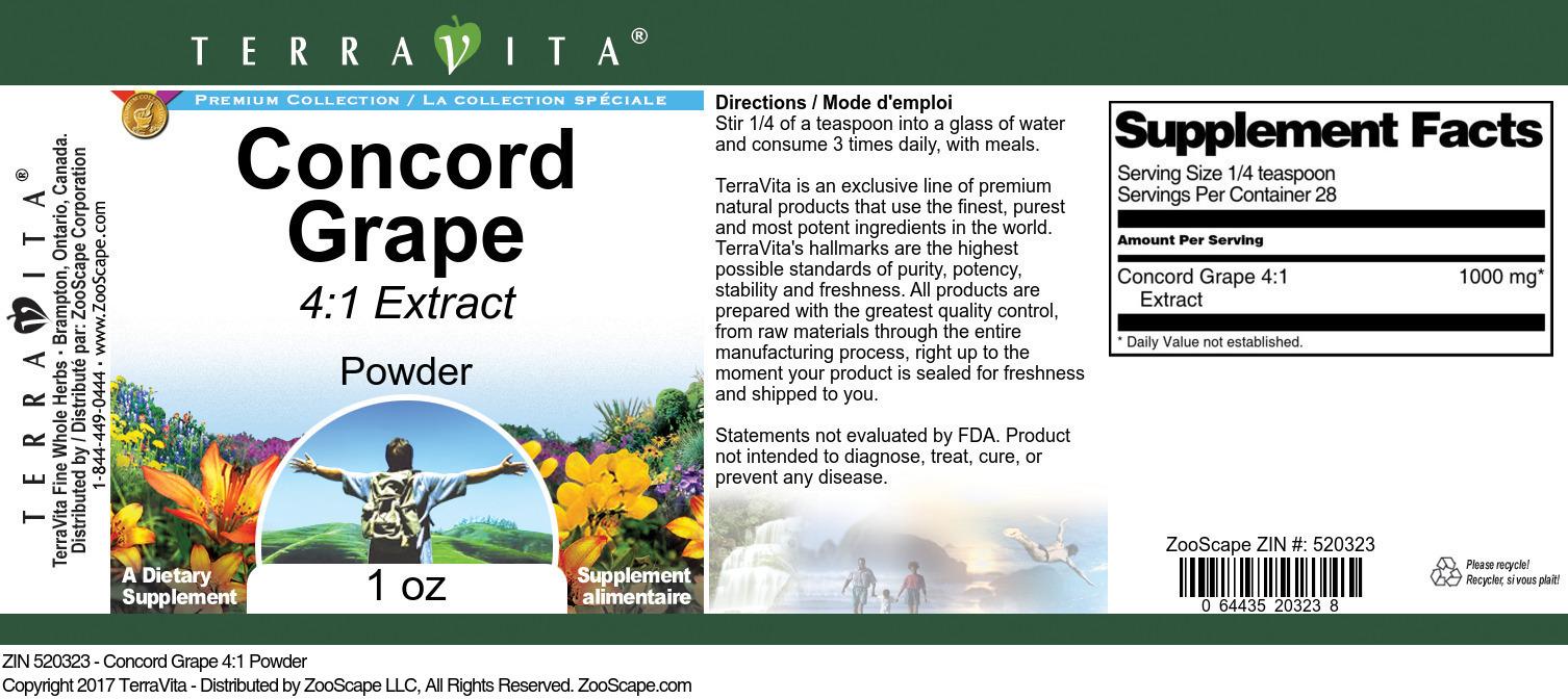 Concord Grape 4:1 Powder