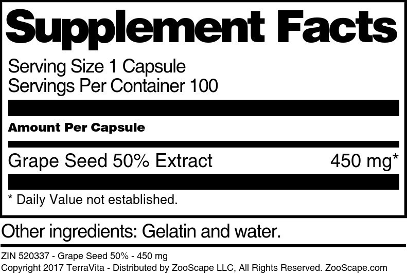 Grape Seed 50% - 450 mg