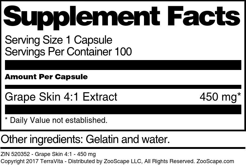 Grape Skin 4:1 - 450 mg