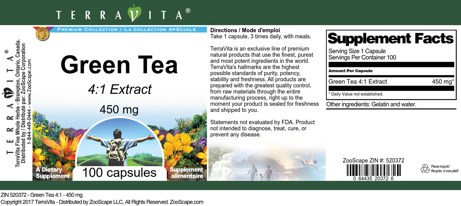 Green Tea 4:1 - 450 mg