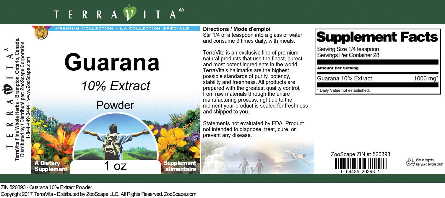 Guarana 10% Powder