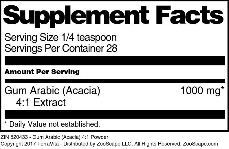 Gum Arabic (Acacia) 4:1 Powder