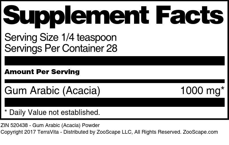 Gum Arabic (Acacia) Powder
