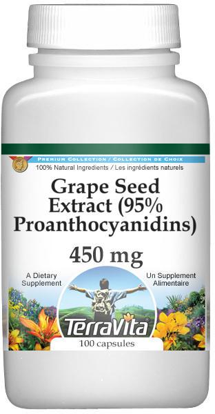 Grape Seed Extract (95% Proanthocyanidins) - 450 mg