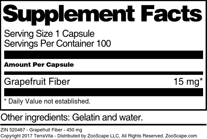 Grapefruit Fiber - 450 mg