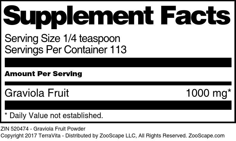 Graviola Fruit Powder
