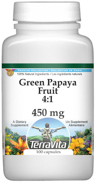 Green Papaya Fruit 4:1 - 450 mg