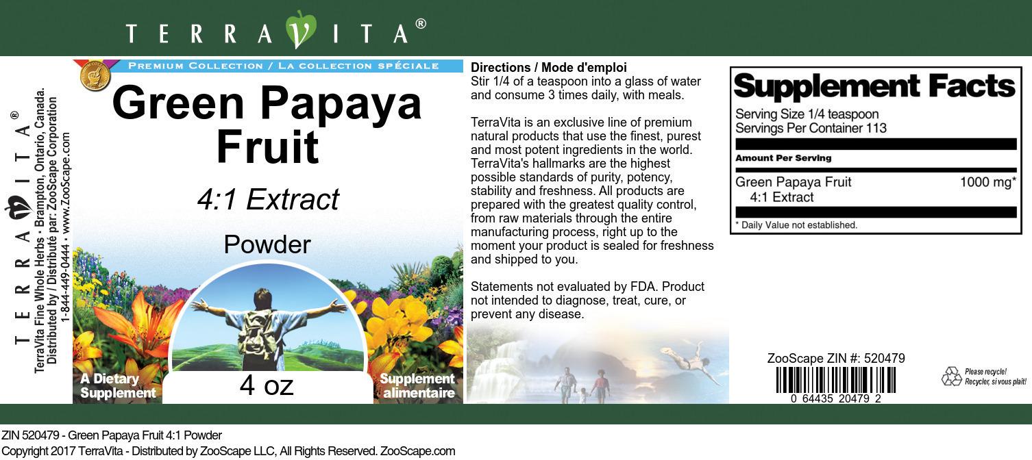 Green Papaya Fruit 4:1 Powder