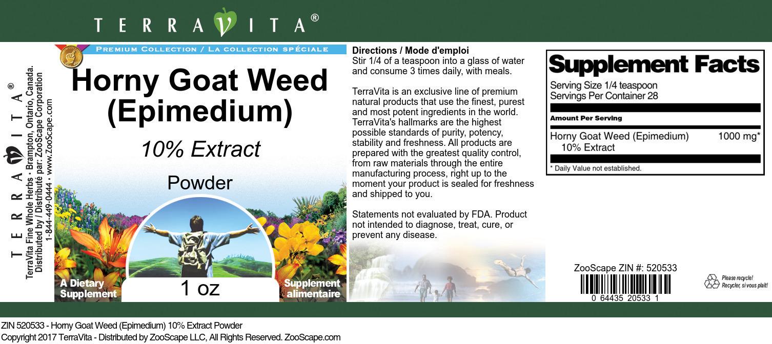 Horny Goat Weed (Epimedium) 10% Powder