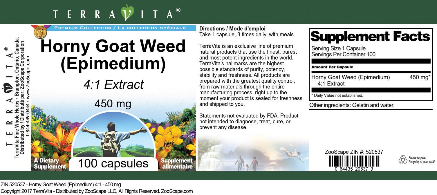 Horny Goat Weed (Epimedium) 4:1 - 450 mg