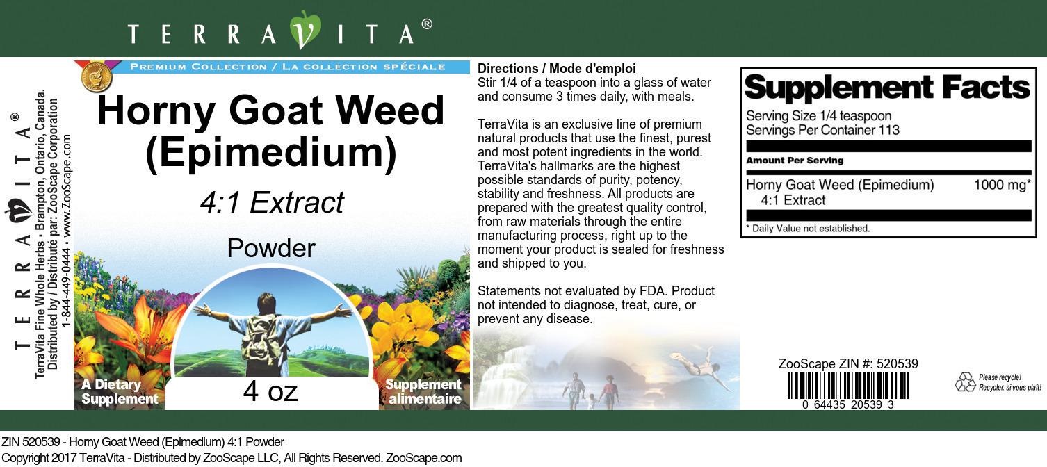 Horny Goat Weed (Epimedium) 4:1 Powder