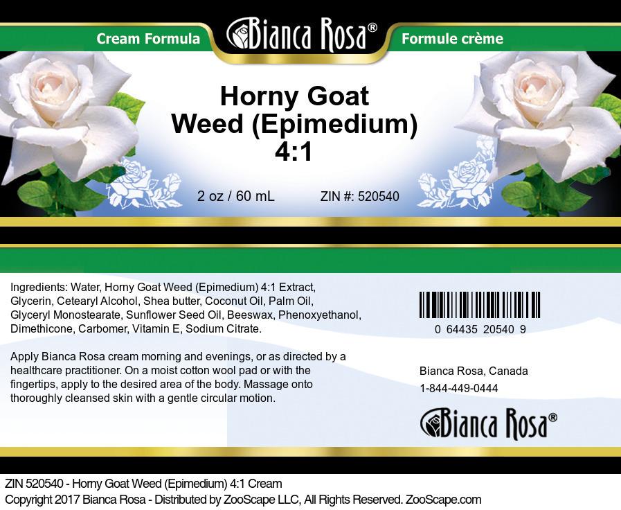 Horny Goat Weed (Epimedium) 4:1 Cream
