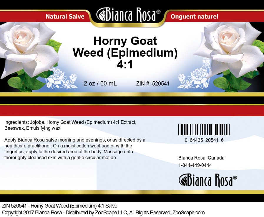 Horny Goat Weed (Epimedium) 4:1 Salve