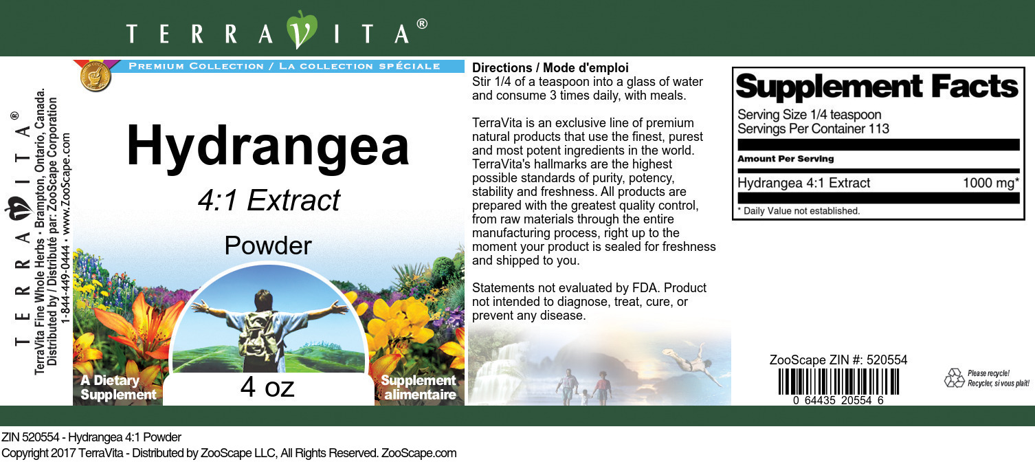 Hydrangea 4:1 Powder
