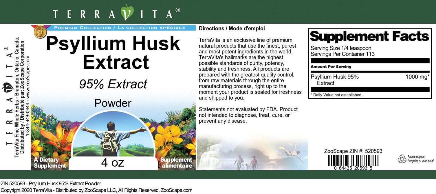 Psyllium Husk 95% Extract Powder