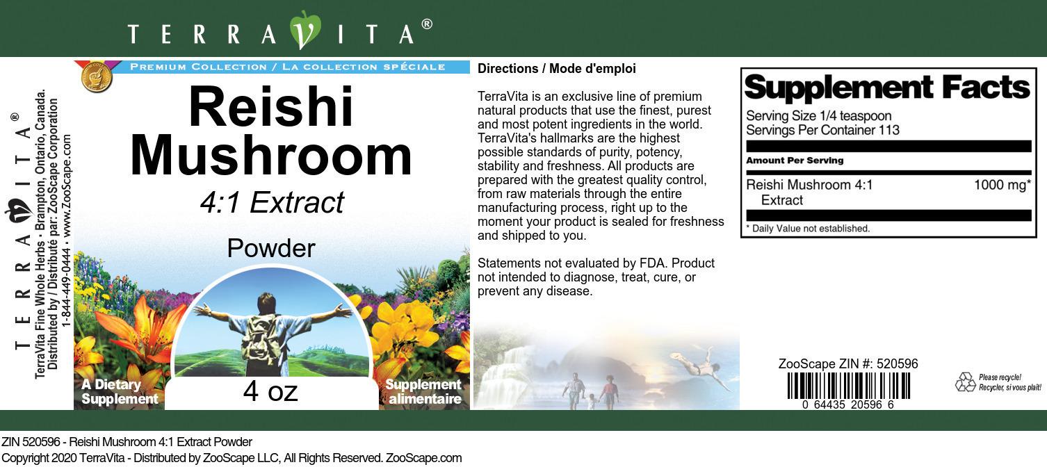 Reishi Mushroom 4:1 Extract Powder
