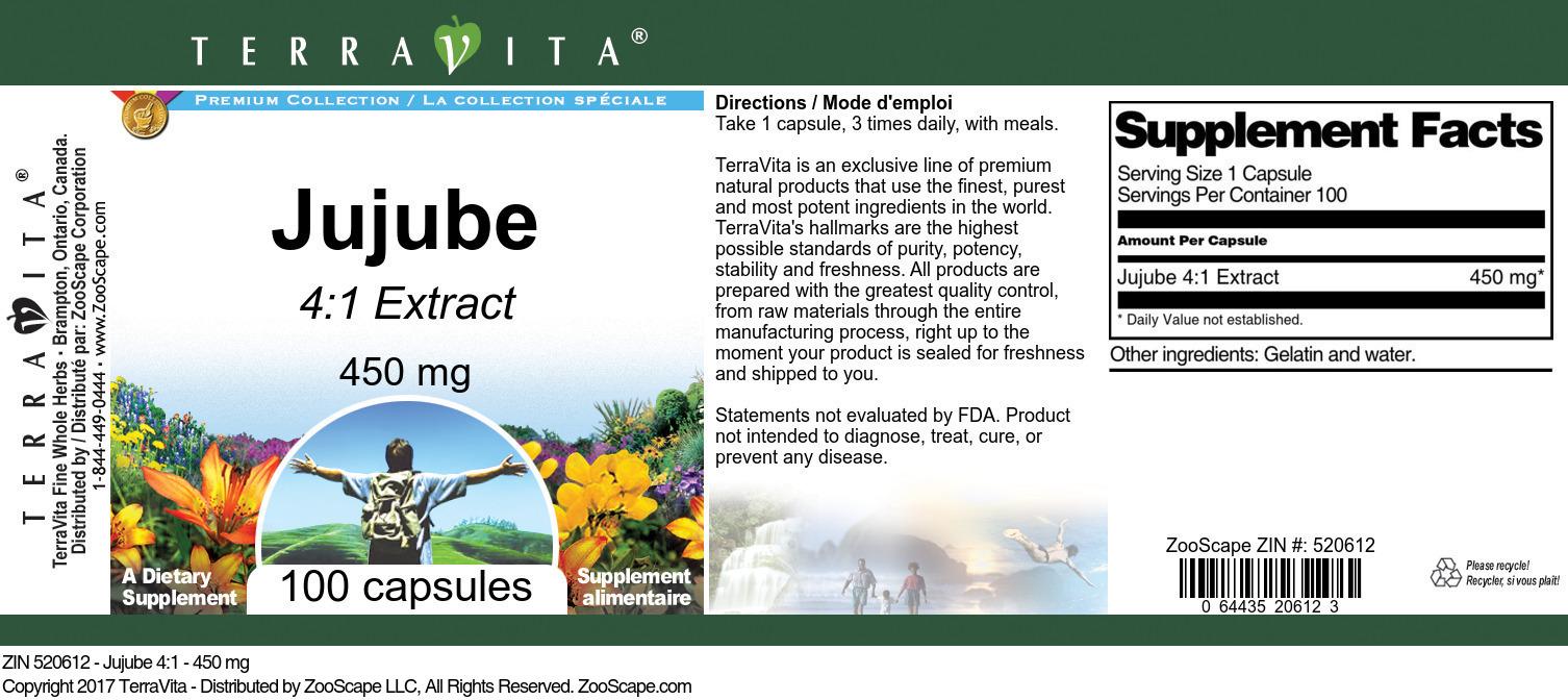 Jujube 4:1 - 450 mg