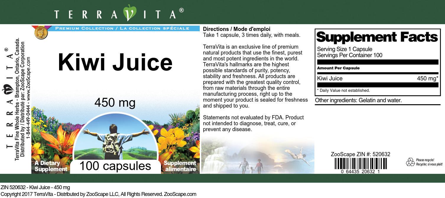 Kiwi Juice - 450 mg