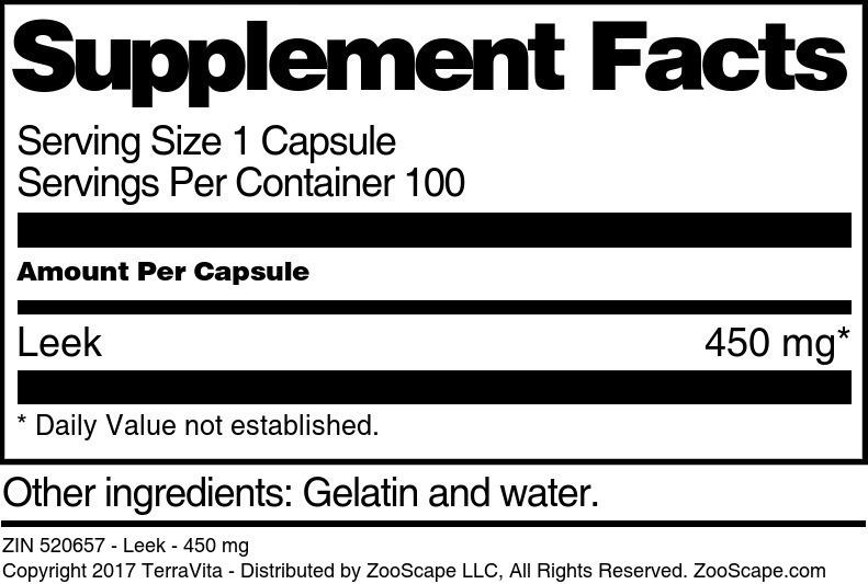 Leek - 450 mg