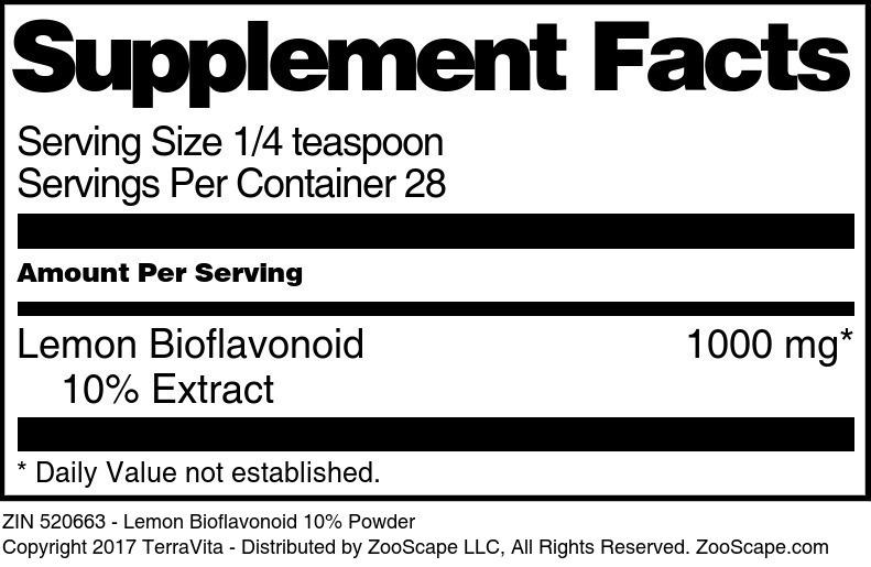 Lemon Bioflavonoid 10% Extract