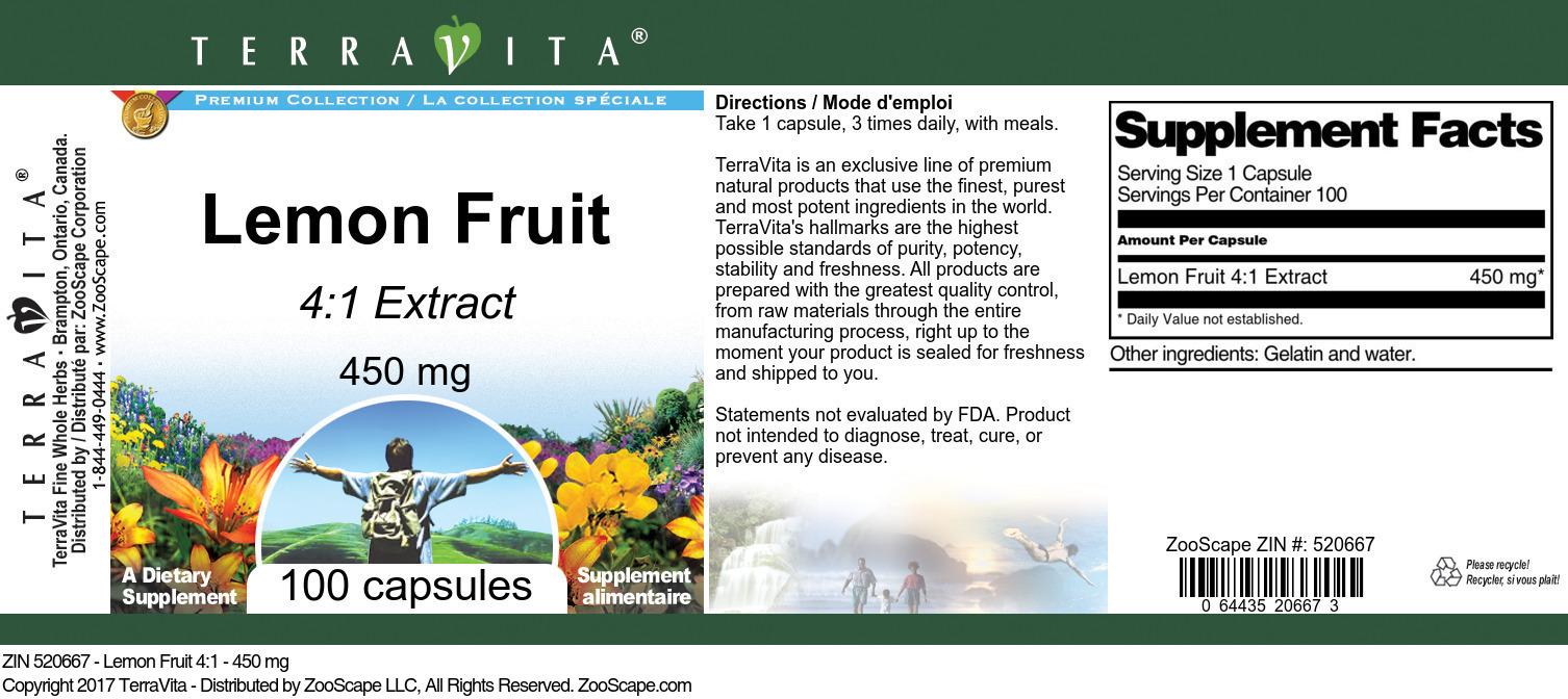 Lemon Fruit 4:1 - 450 mg