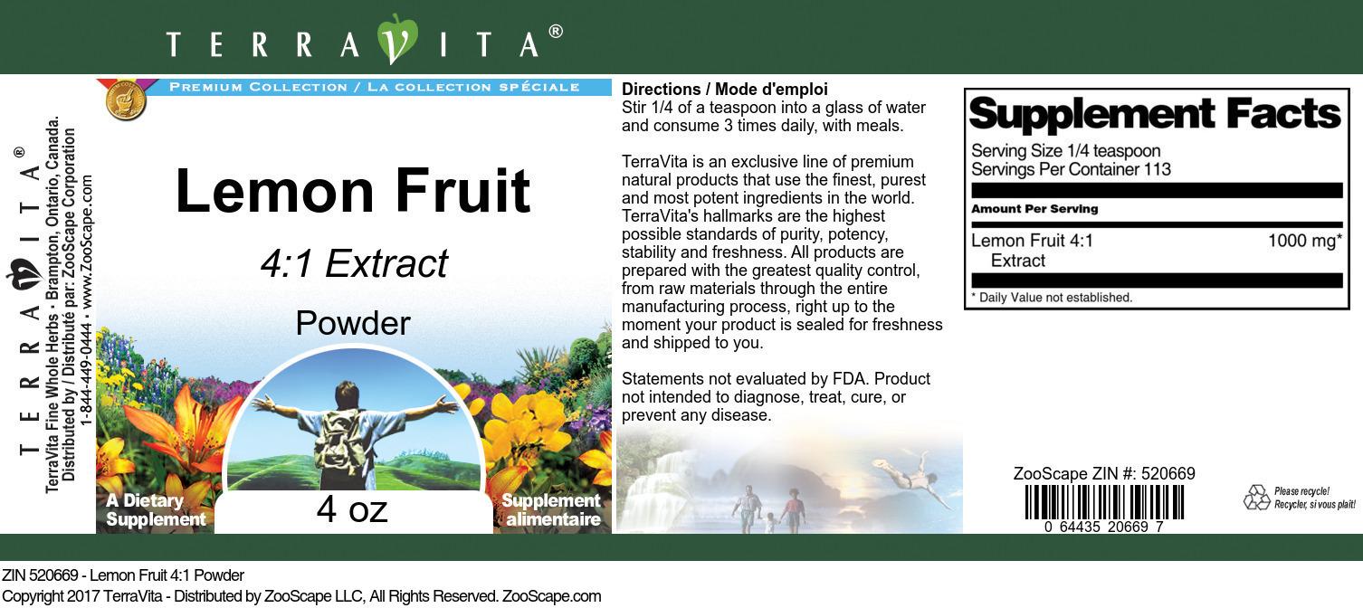 Lemon Fruit 4:1 Powder