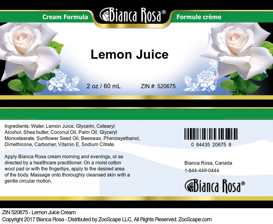 Lemon Juice Cream