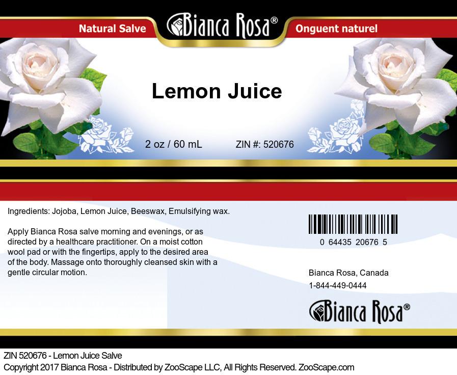 Lemon Juice Salve