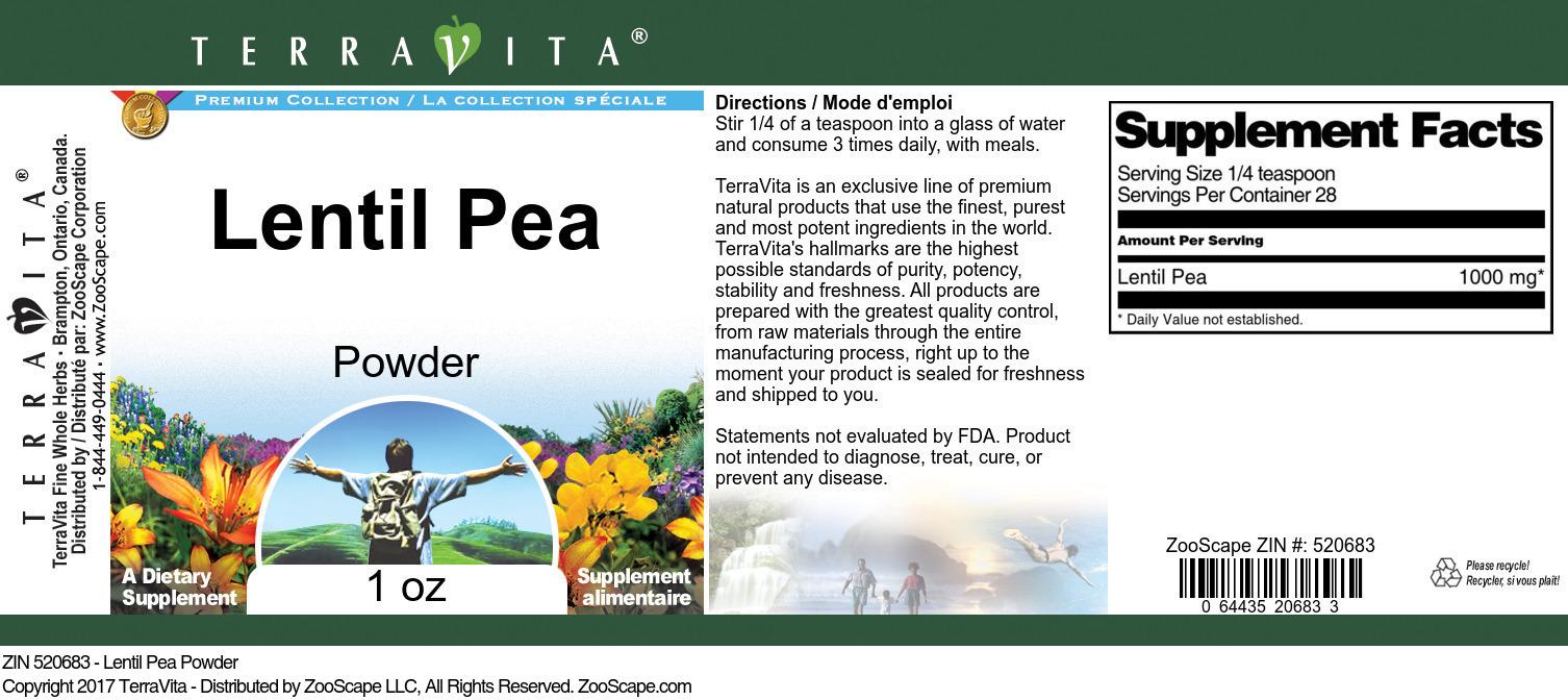Lentil Pea Powder