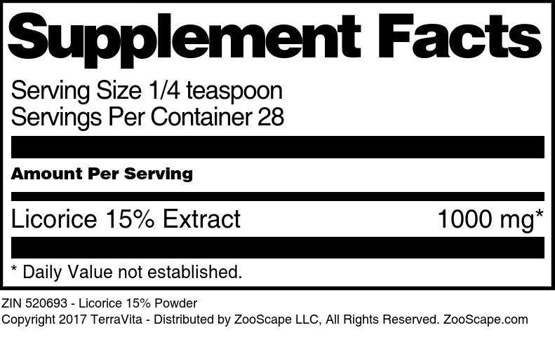 Licorice 15% Powder