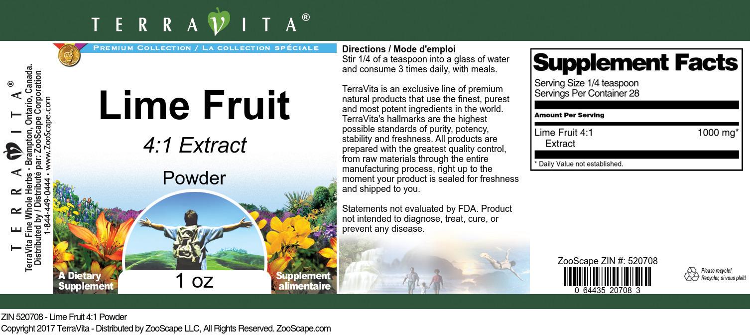Lime Fruit 4:1 Powder