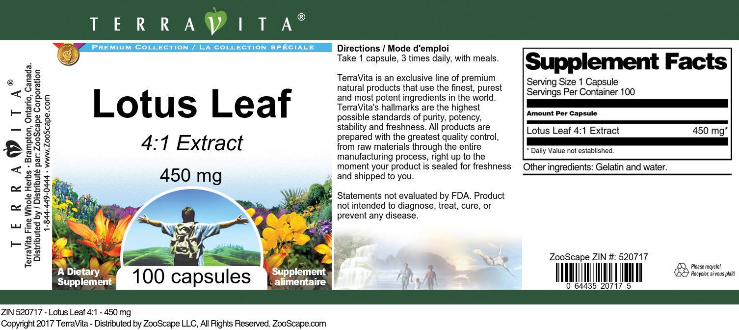 Lotus Leaf 4:1 - 450 mg