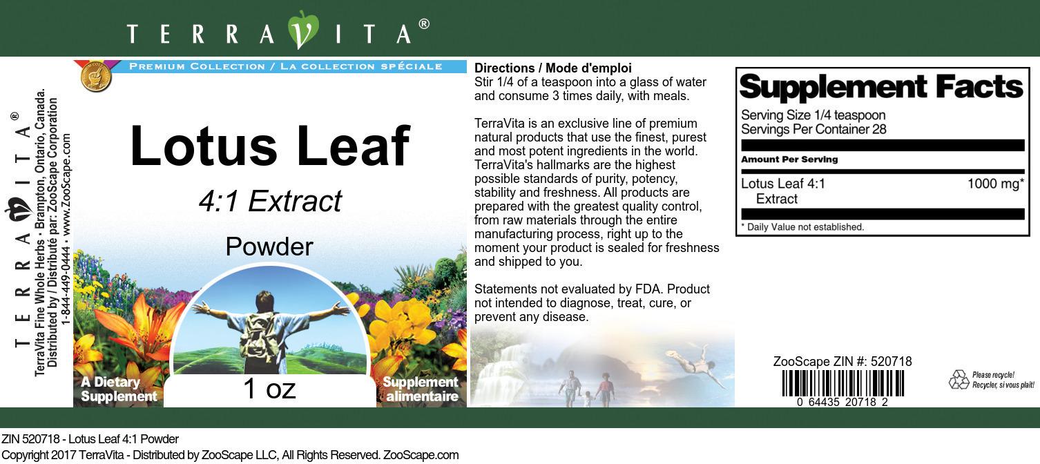 Lotus Leaf 4:1 Powder