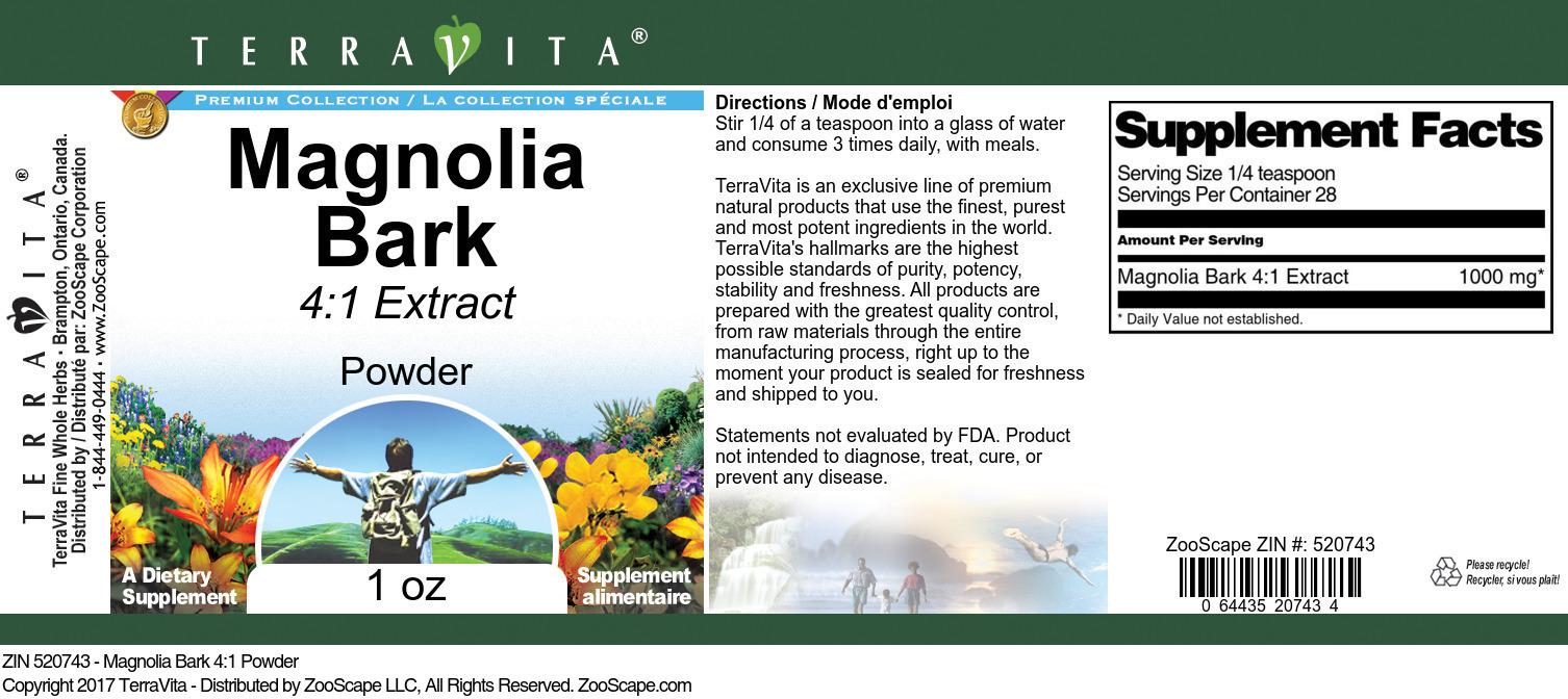 Magnolia Bark 4:1 Powder