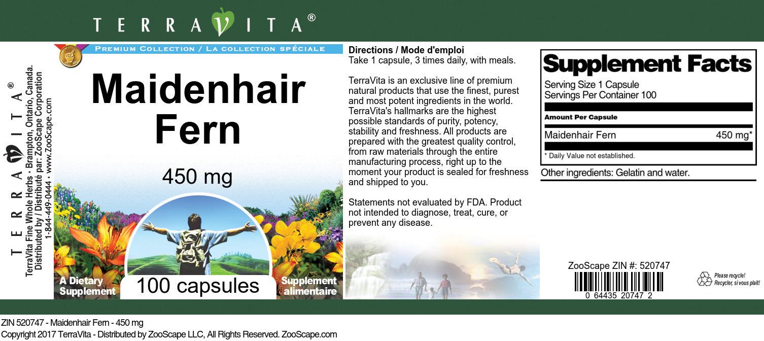 Maidenhair Fern - 450 mg