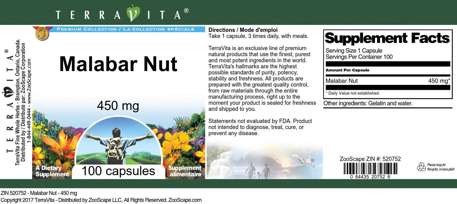 Malabar Nut - 450 mg