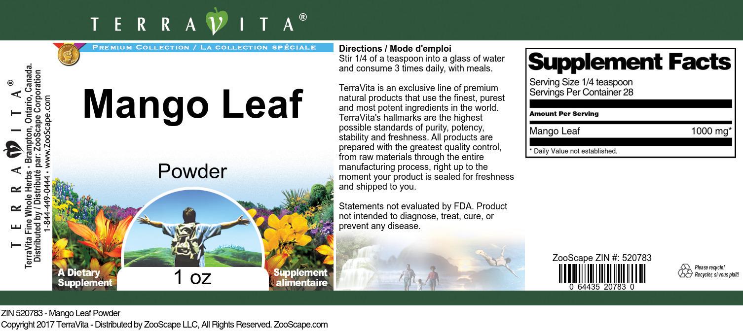 Mango Leaf Powder