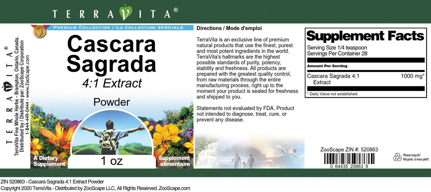 Cascara Sagrada 4:1 Extract Powder