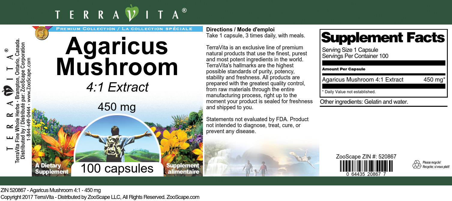 Agaricus Mushroom 4:1 Extract
