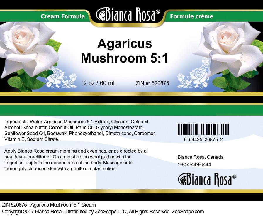 Agaricus Mushroom 5:1 Cream