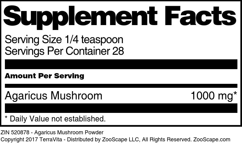 Agaricus Mushroom Powder